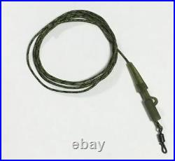 Carp Fishing Ready Tied Quick Change Leadcore Leaders Trans Green Camo 3 Pack