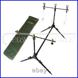 Carp Hunter fishing Tackle Set Up 2 x12ft Rods Reels Alarms 3+3 Holdall+Rigs Pod