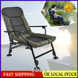 Comfort Carp Chair With Arms Ultra Padded Fishing Adjustable Legs Armchair