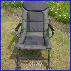 Comfort Carp Fishing Chair With Arms Ultra Padded Adjustable Legs Armchair 180kg