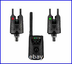 ND Wireless Rechargeable Bite Alarm S9 2+1 Set with Bluetooth receiver carp fish