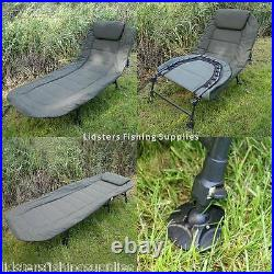 NEW NGT Carp Coarse Fishing Deluxe Bedchair 6 Leg Recliner with Pillow Bed Chair