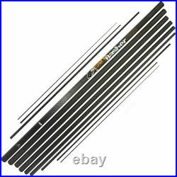 NGT 11m Full Carbon Carp Basher Fishing Pole + Spare Top 3 Sections + Cloth Bag