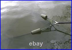 NGT Carp Cradle Unhooking Mat with Knee Pad + 42 Dual Fishing Net handle Stink