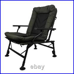 Prologic Comfort Carp Chair With Arms Ultra Padded Fishing Adjustable Legs